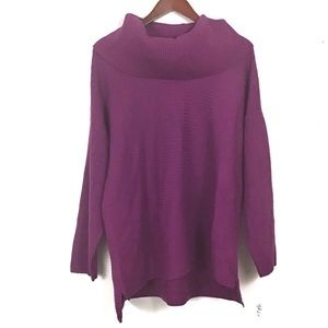 Style & Co Sweaters - Plus Size Cowl-Neck Sweater Purple Size 0X